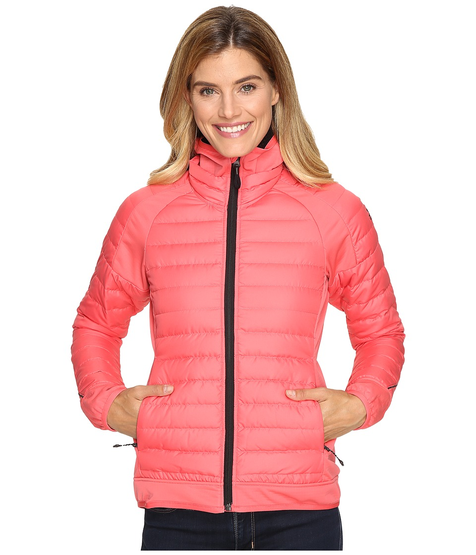 adidas Outdoor - Hybrid Down Hooded Jacket (Super Blush) Women's Coat