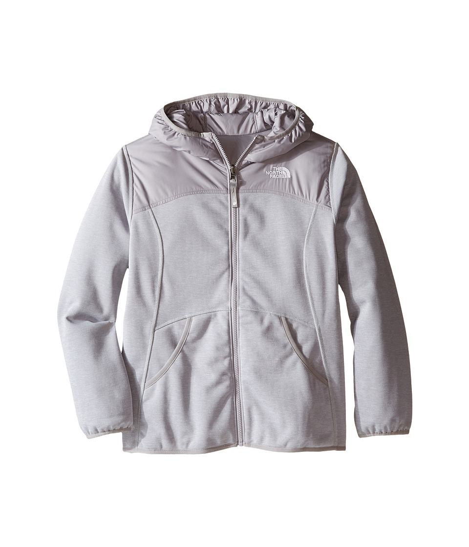 The North Face Kids - Reversible Haldee Hoodie (Little Kids/Big Kids) (TNF Light Grey Heather) Girl's Sweatshirt