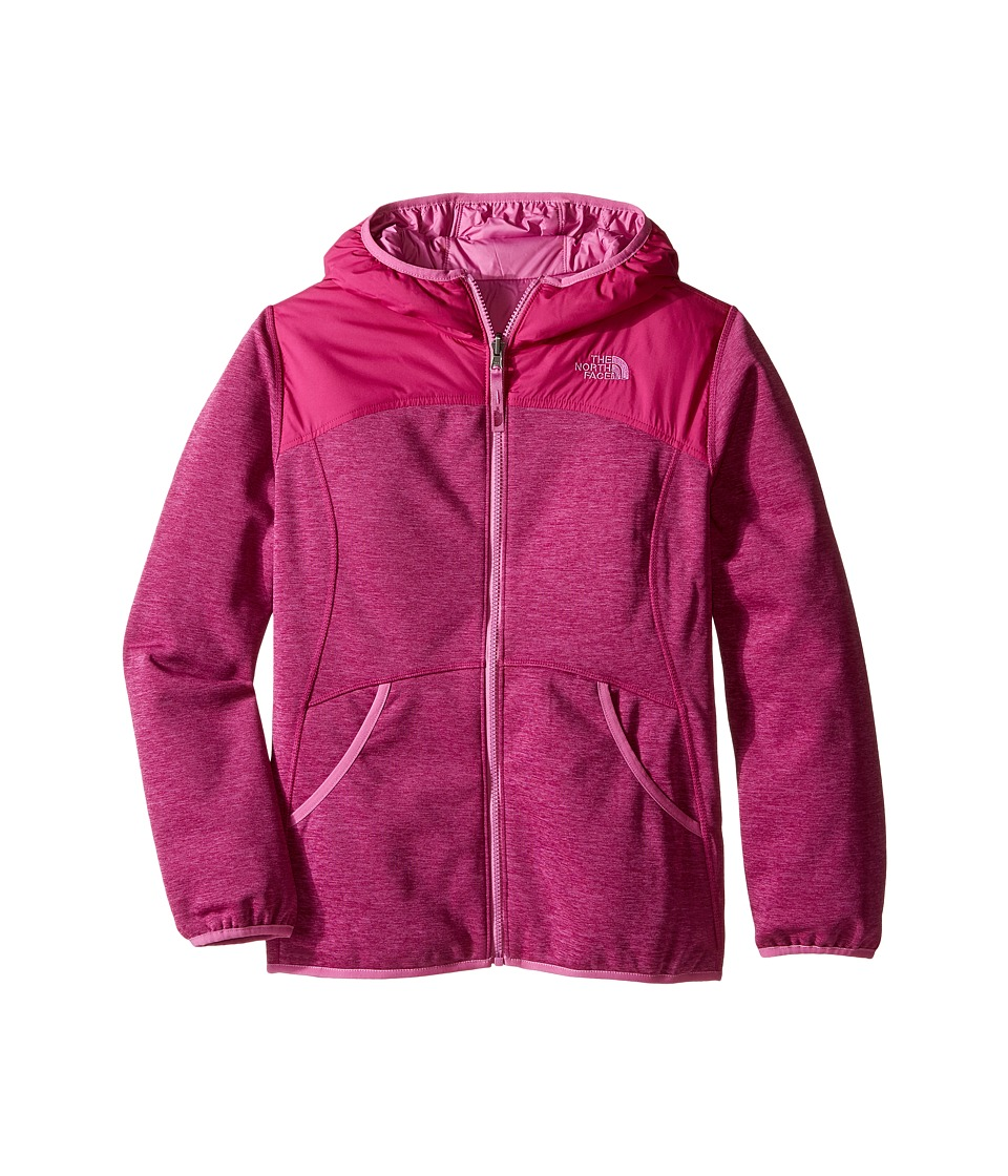 The North Face Kids - Reversible Haldee Hoodie (Little Kids/Big Kids) (Roxbury Pink Heather) Girl's Sweatshirt