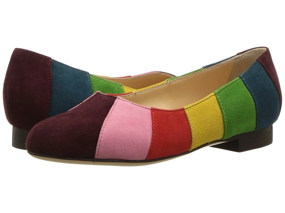 Charlotte Olympia - Incy Priscilla (Toddler/Little Kid) (Multicolor Suede) Women's Flat Shoes