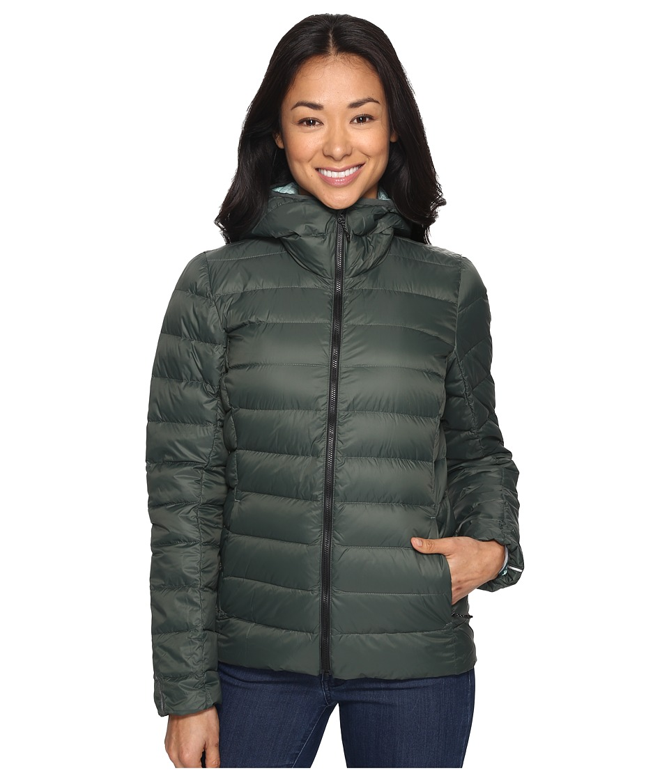 adidas Outdoor - Light Down Hooded Jacket (Utility Ivy) Women's Coat
