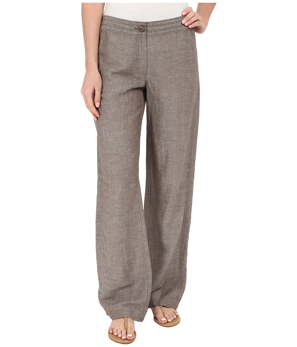NIC+ZOE - Easy Linen Pant (Mushroom) Women's Casual Pants