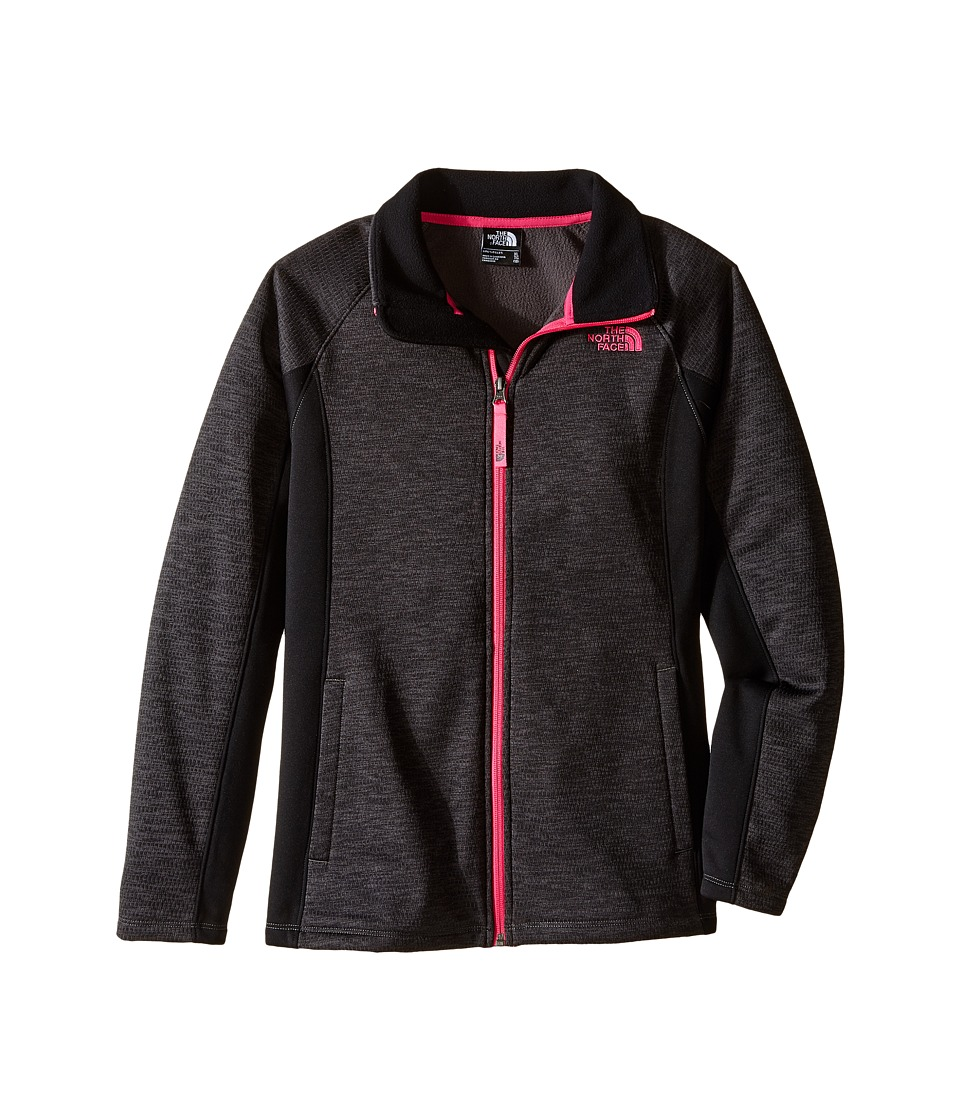 The North Face Kids - Arcata Full Zip Jacket (Little Kids/Big Kids) (Graphite Grey Heather) Girl's Coat