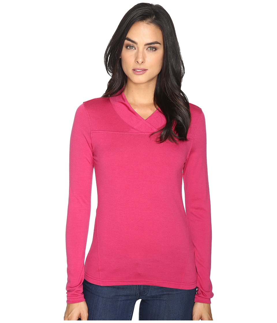Mountain Khakis - Rendezvous Micro Wrap Neck Shirt (Sangria) Women's Sweater