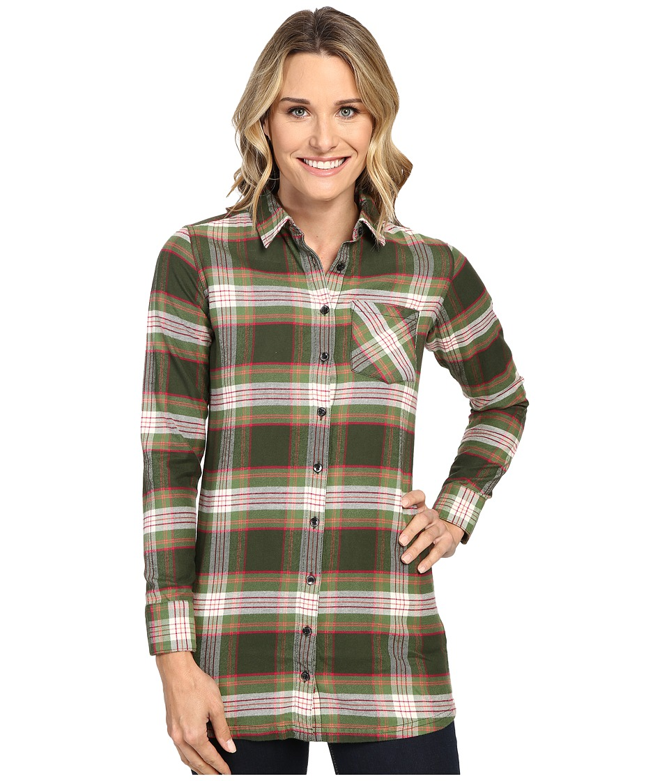 Mountain Khakis - Penny Plaid Tunic Shirt (Rainforest) Women's Blouse