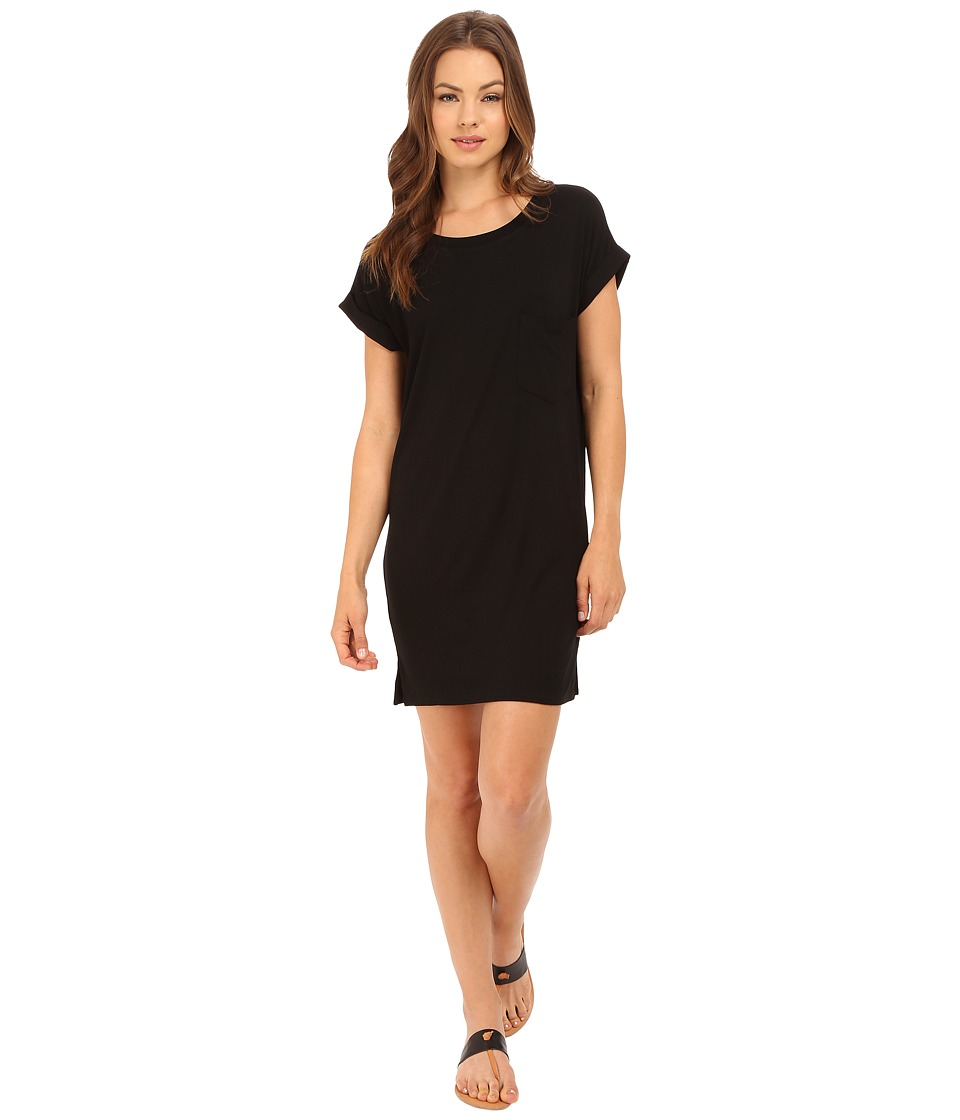 Culture Phit - Adie T-Shirt Dress with Pocket (Black) Women's Dress