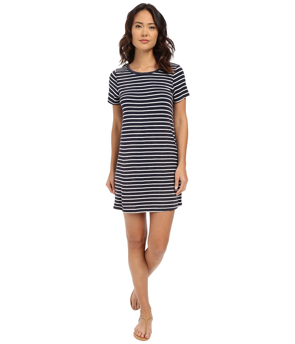 Culture Phit Abbey Short Sleeve Dress (Navy/White) Women