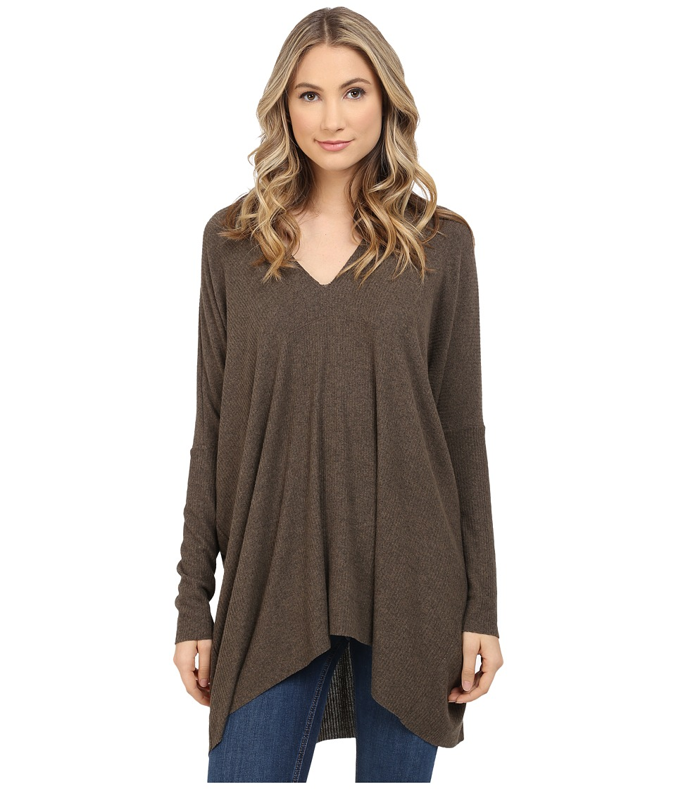Culture Phit - Jana Ribbed V-Neck Sweater (Olive) Women's Sweater