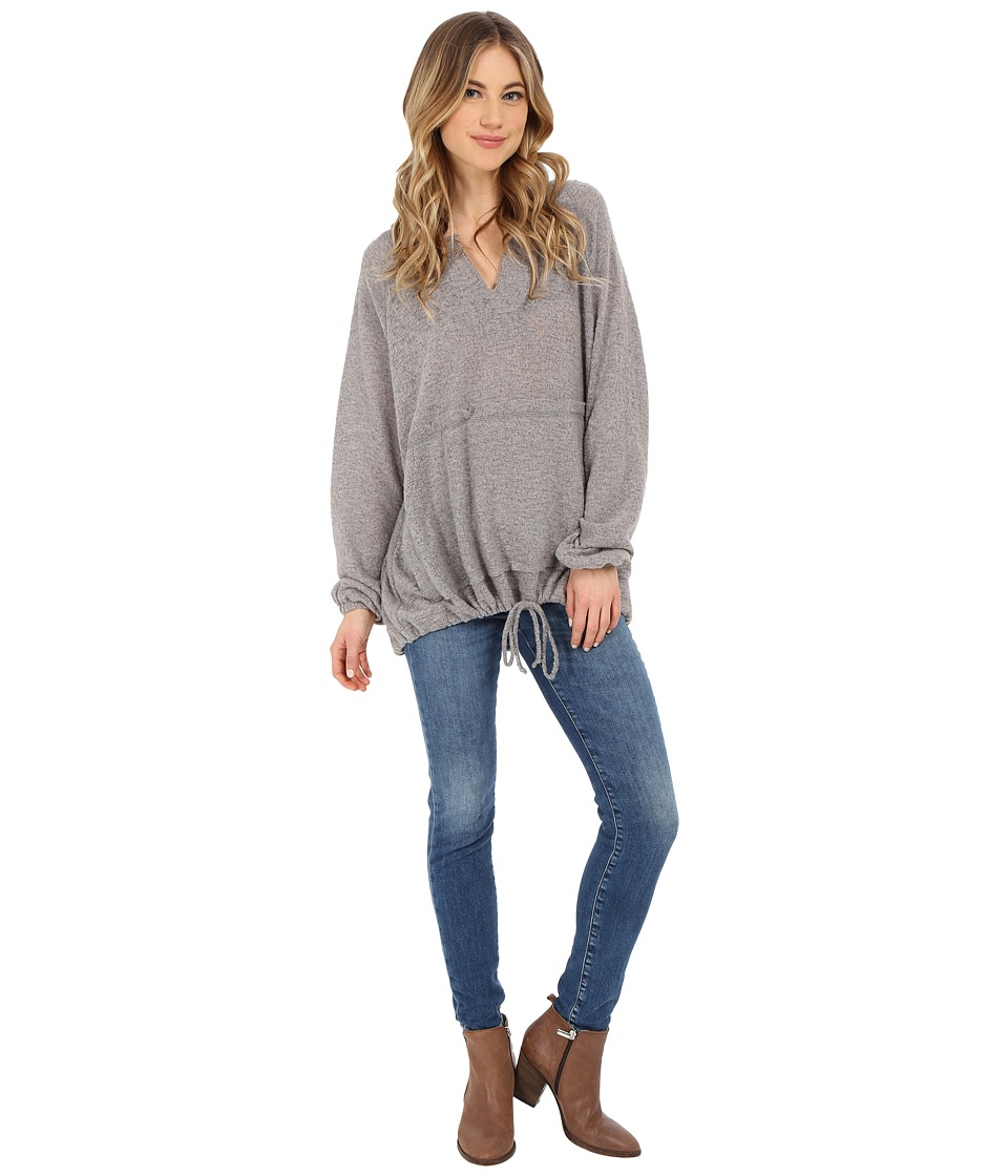 Culture Phit - Jaimi Comfy Hoodie with Drawstring Waist (Heather Grey) Women's Sweatshirt