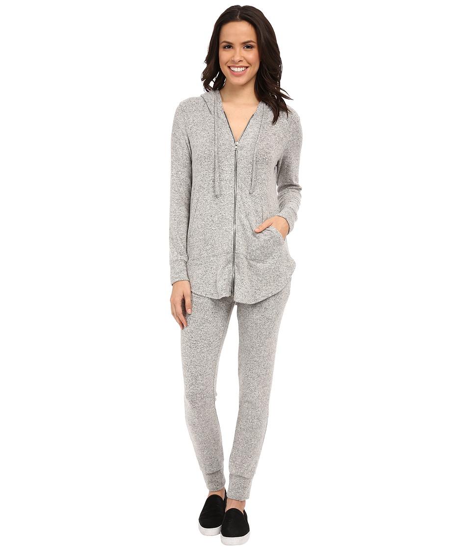 Culture Phit - Jaeda Comfy Zip-Up Hoodie (Heather Grey) Women's Sweatshirt