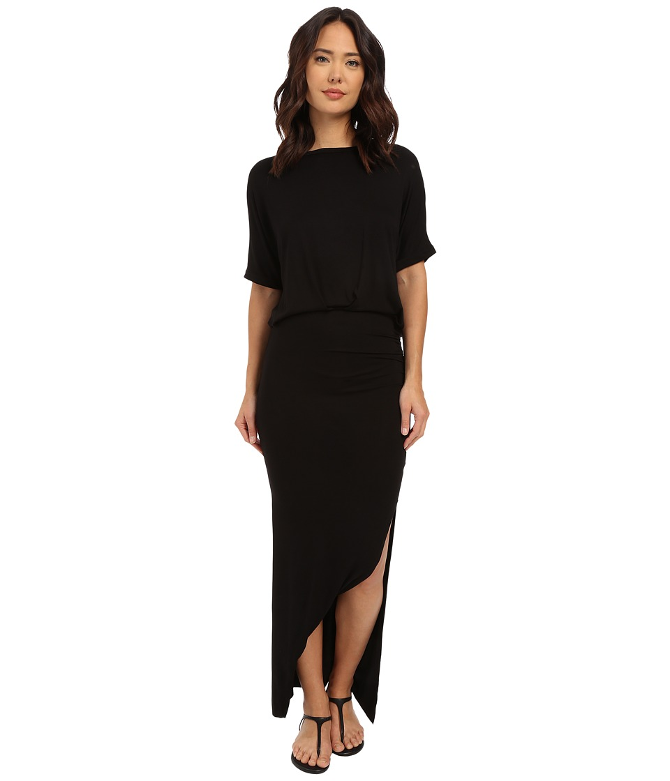 Culture Phit - Daniella Short Sleeve Maxi Dress (Black) Women's Dress