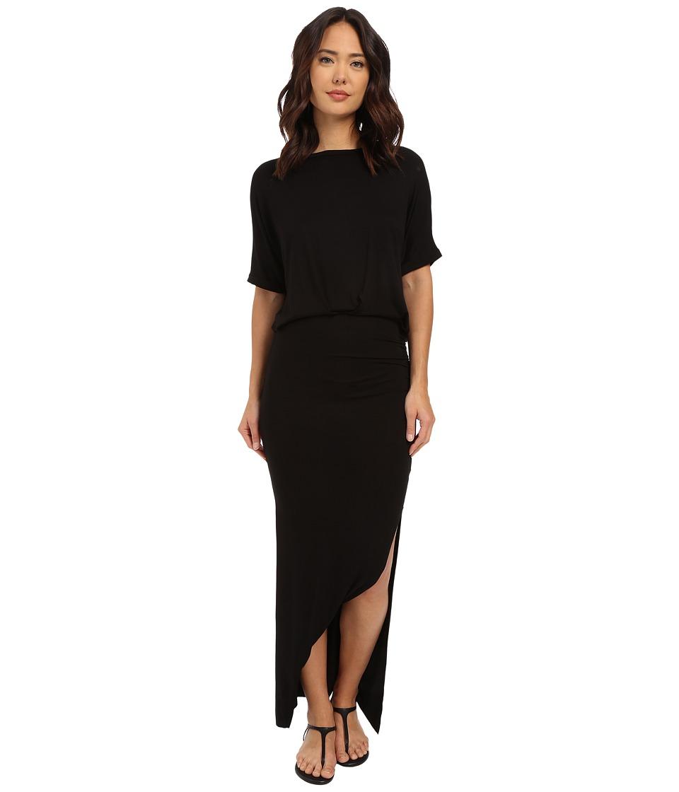 Culture Phit - Daniella Short Sleeve Maxi Dress (Black) Women's Dress