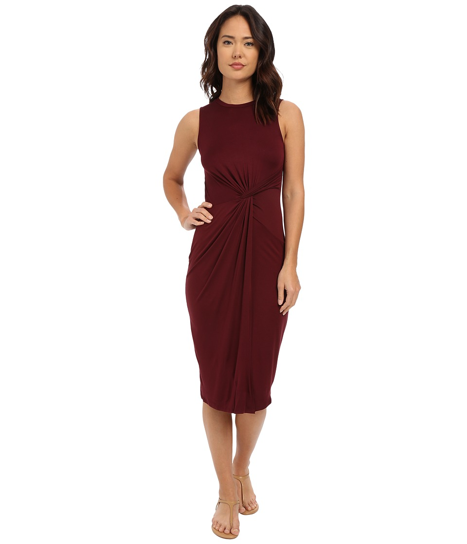 Culture Phit - Danicah Twist Front Sleeveless Dress (Wine) Women