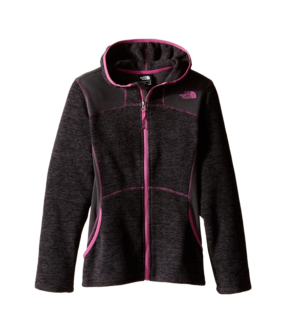 The North Face Kids - Viva Fleece Hoodie (Little Kids/Big Kids) (TNF Black Heather) Girl's Sweatshirt