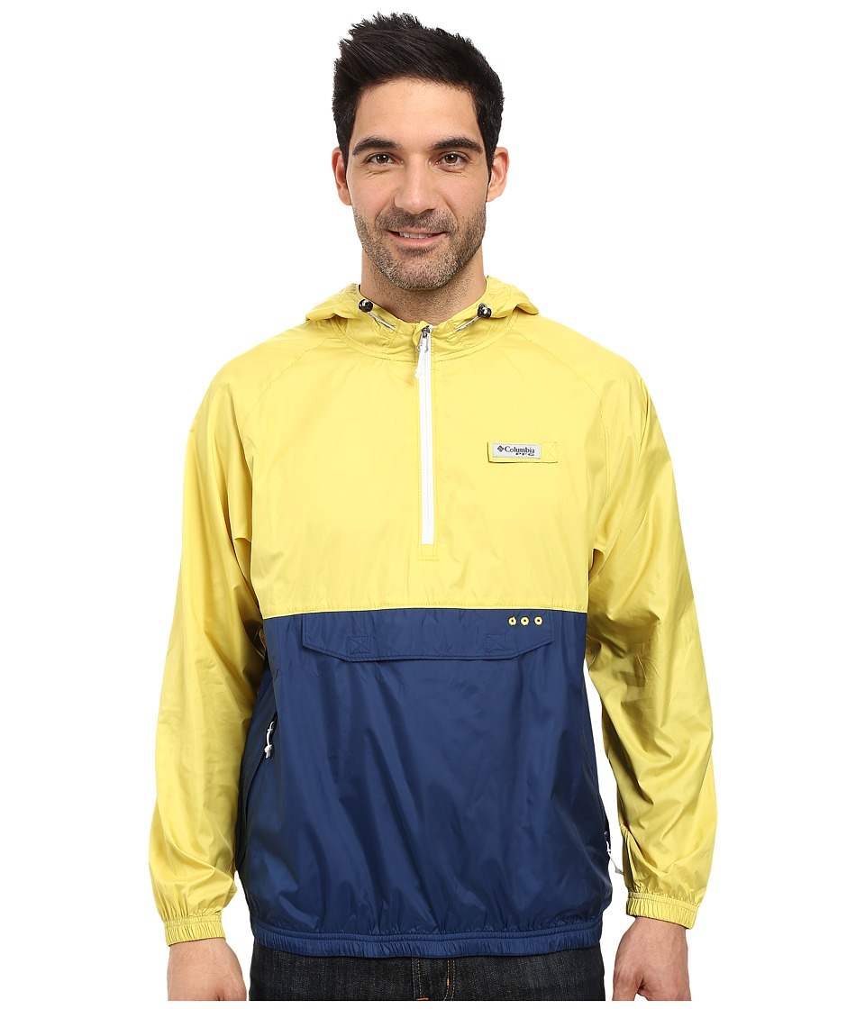 Columbia - Terminal Spray Anorak Hoodie (Mineral Yellow/Carbon/White) Men's Sweatshirt