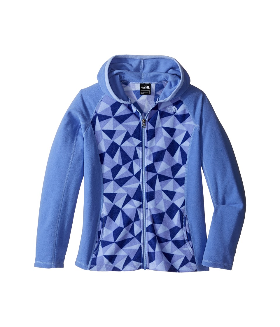 The North Face Kids - Glacier Full Zip Hoodie (Little Kids/Big Kids) (Grapemist Blue Triangle Camo) Girl's Sweatshirt