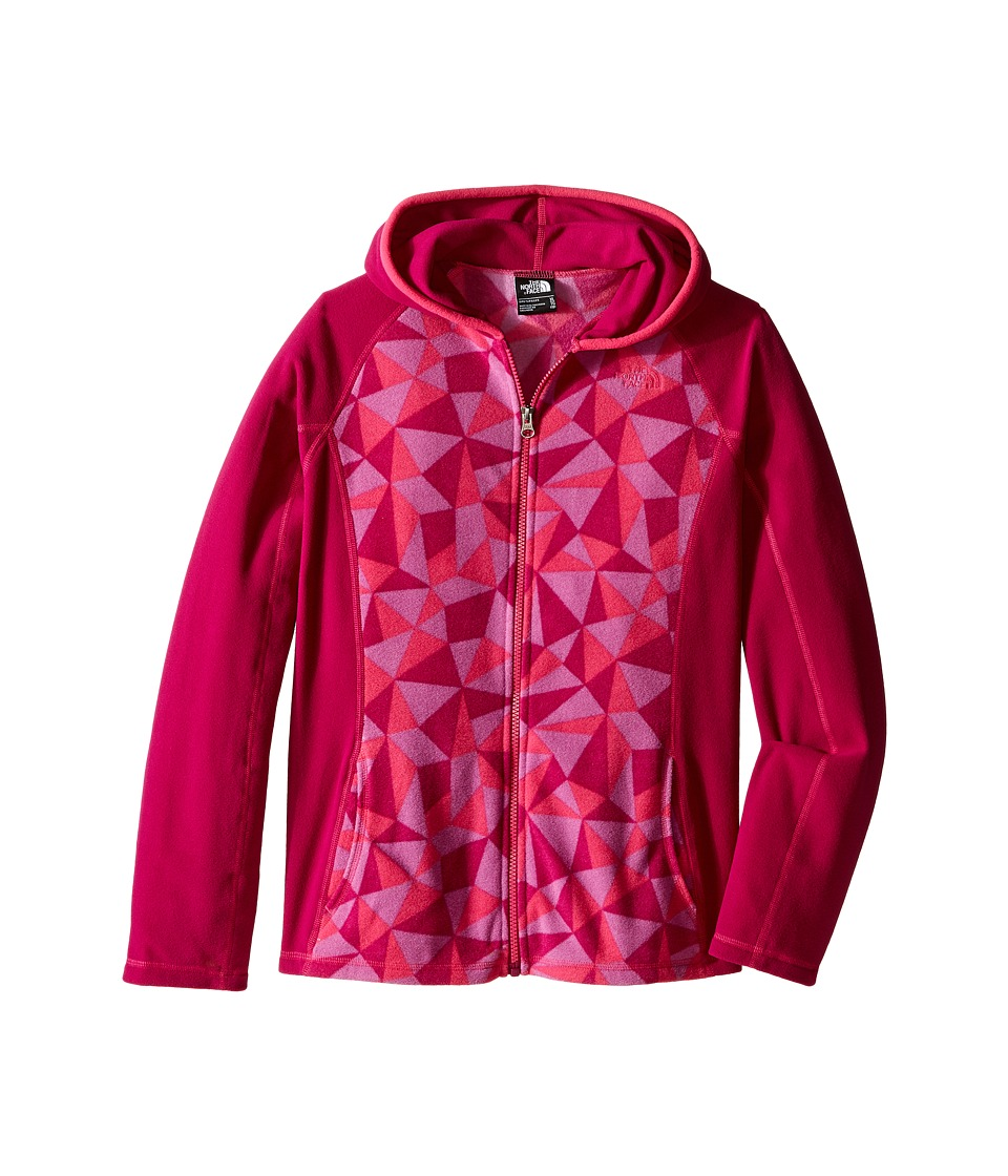 The North Face Kids - Glacier Full Zip Hoodie (Little Kids/Big Kids) (Roxbury Pink Triangle Camo) Girl's Sweatshirt