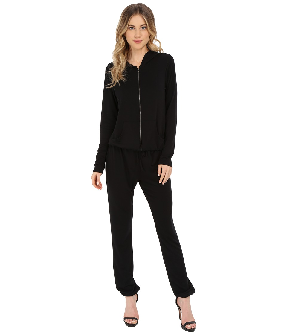 Culture Phit - Kacey French Terry Hooded Jumper (Black) Women's Jumpsuit & Rompers One Piece