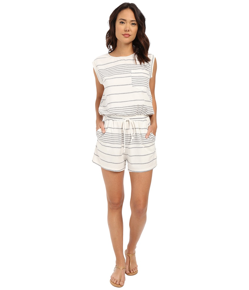 Culture Phit - Abreanna Striped Jersey Romper (Ivory/Grey) Women's Jumpsuit & Rompers One Piece