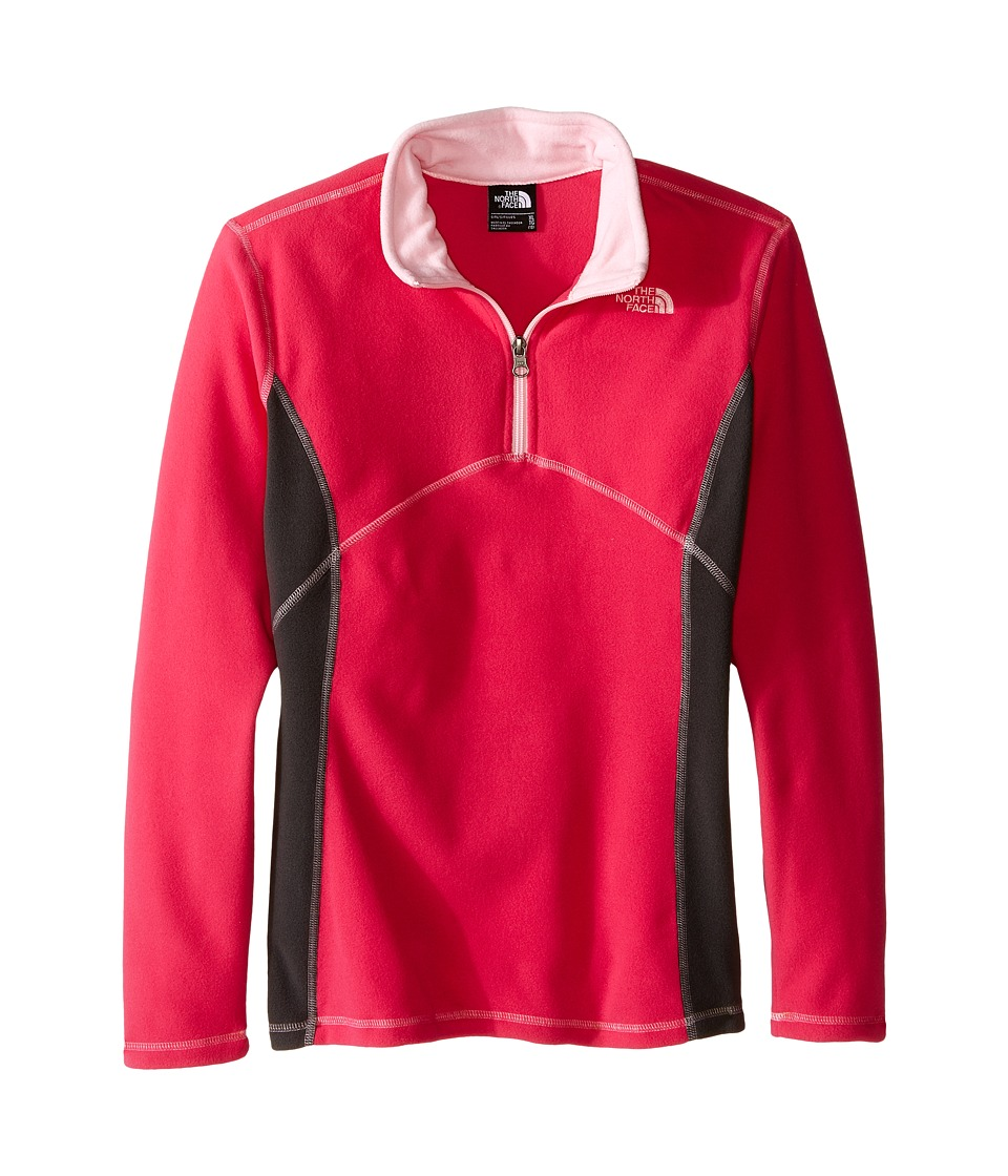 The North Face Kids - Glacier 1/4 Zip (Little Kids/Big Kids) (Cabaret Pink) Girl's Long Sleeve Pullover
