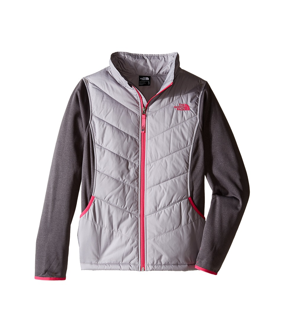 The North Face Kids - Mak Full Zip Jacket (Little Kids/Big Kids) (Metallic Silver) Girl's Coat