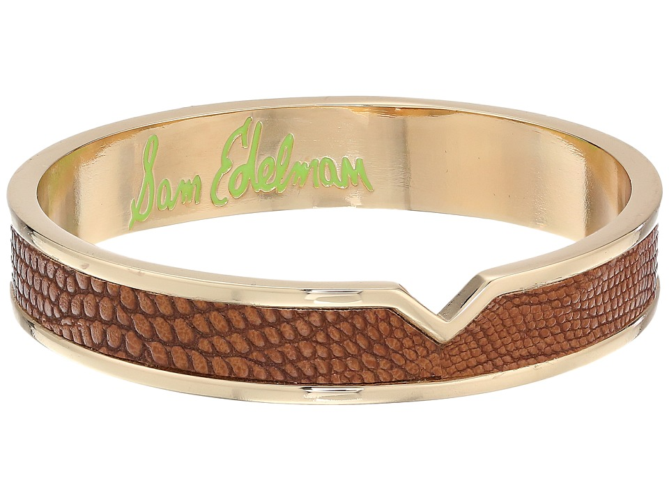 Sam Edelman - Leather V Bangle (Brown) Bracelet