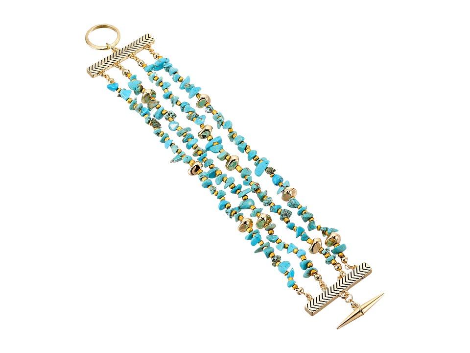Sam Edelman - Multi Row Nugget Bracelet (Turquoise) Bracelet