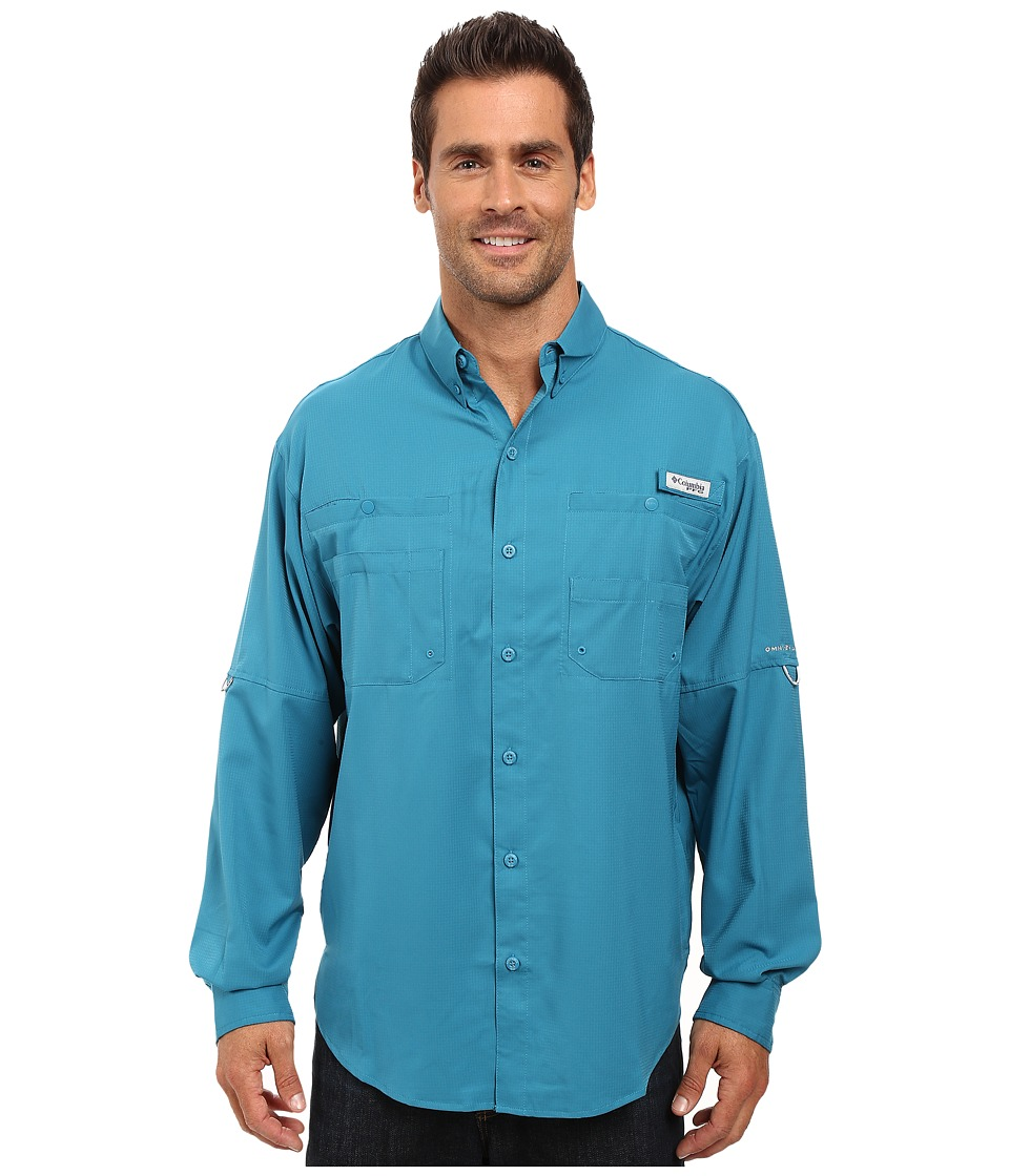 Columbia - Tamiami II L/S (Deep Marine) Men's Long Sleeve Button Up