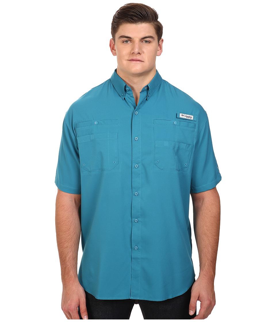 Columbia - Tamiami II S/S - Tall (Deep Marine) Men's Short Sleeve Button Up