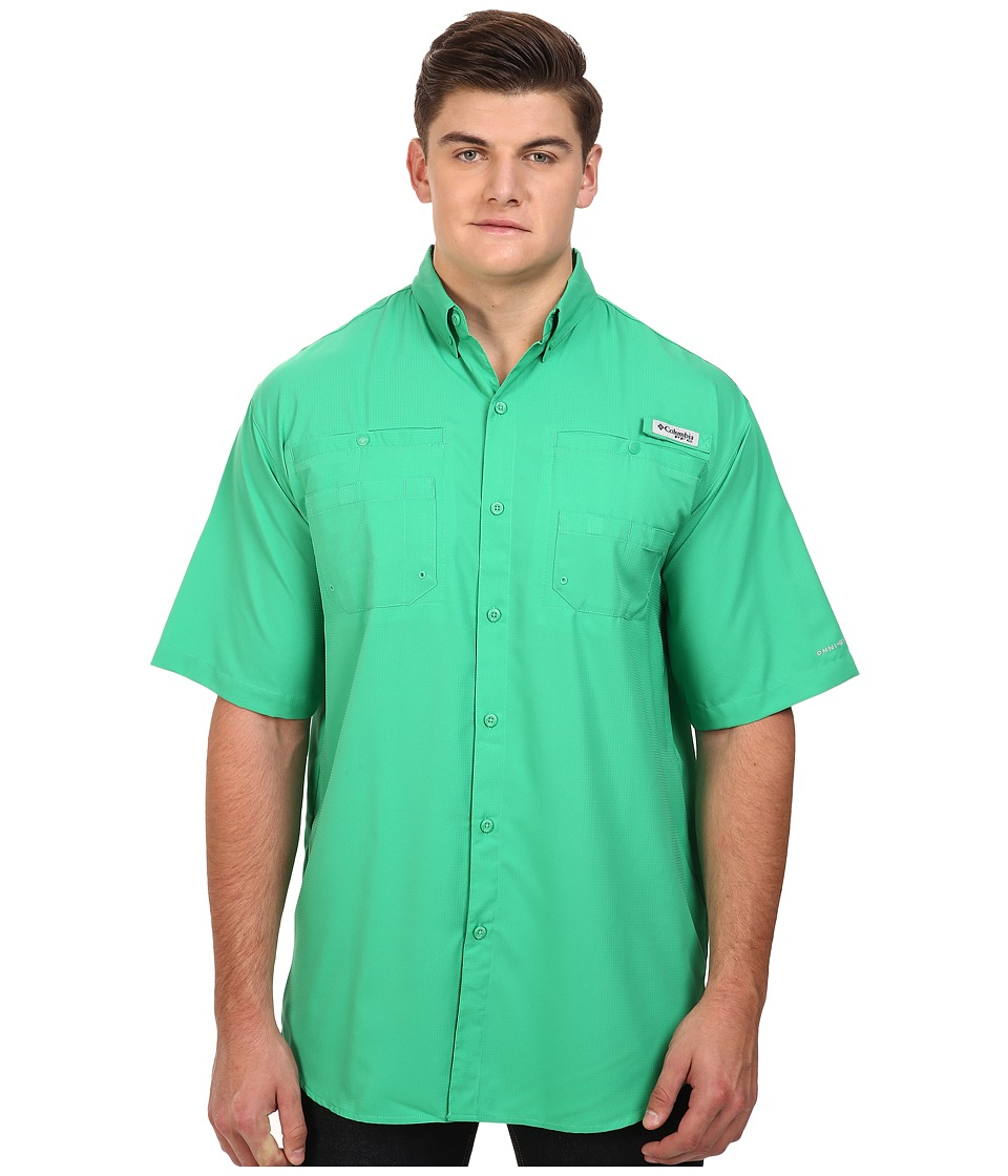 Columbia - Tamiami II S/S - Tall (Dark Lime) Men's Short Sleeve Button Up