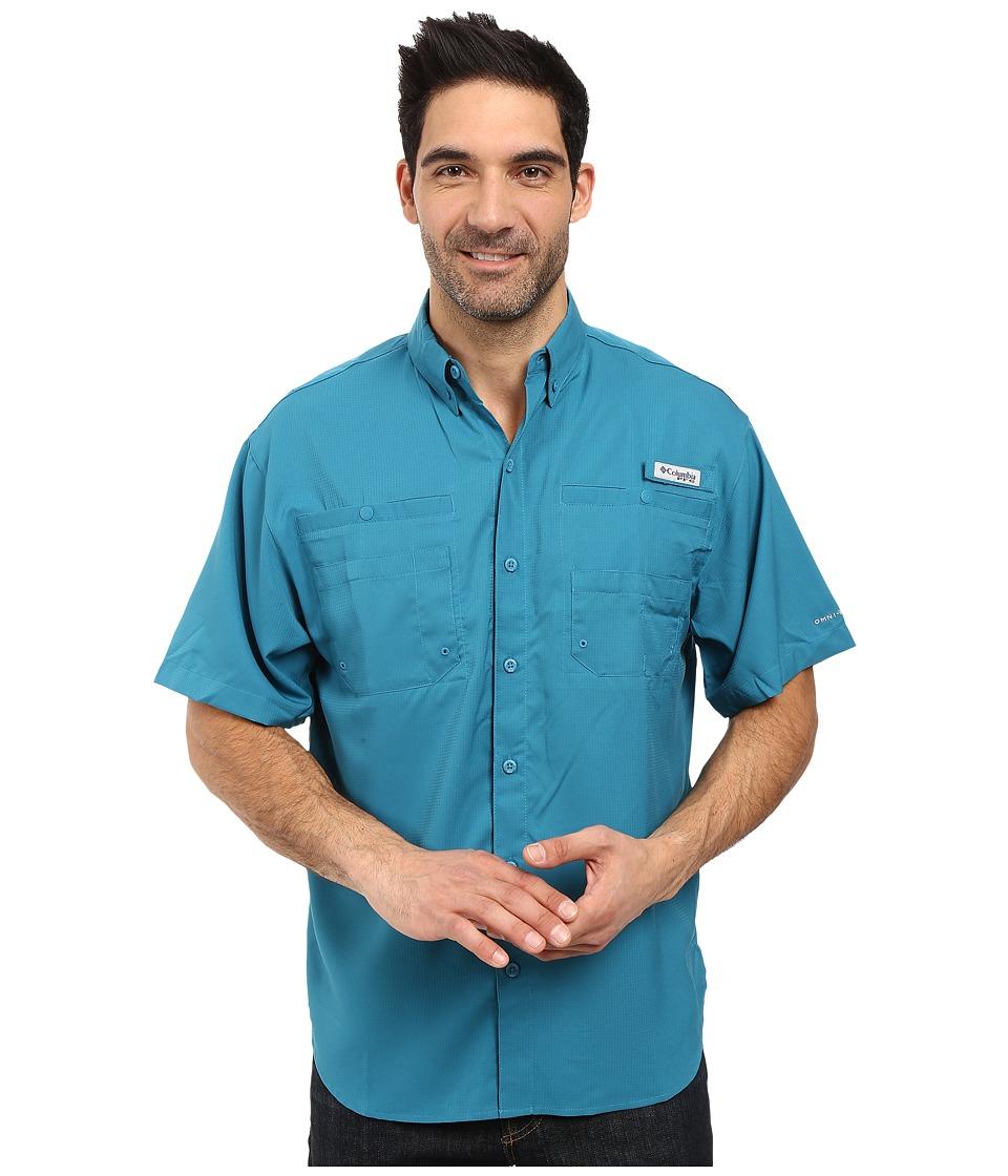 Columbia - Tamiami II S/S (Deep Marine) Men's Short Sleeve Button Up