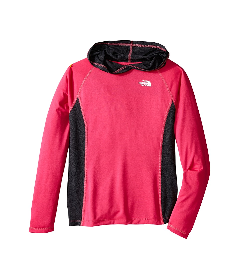 The North Face Kids - Long Sleeve Reactor Hoodie (Little Kids/Big Kids) (Cabaret Pink) Girl's Sweatshirt