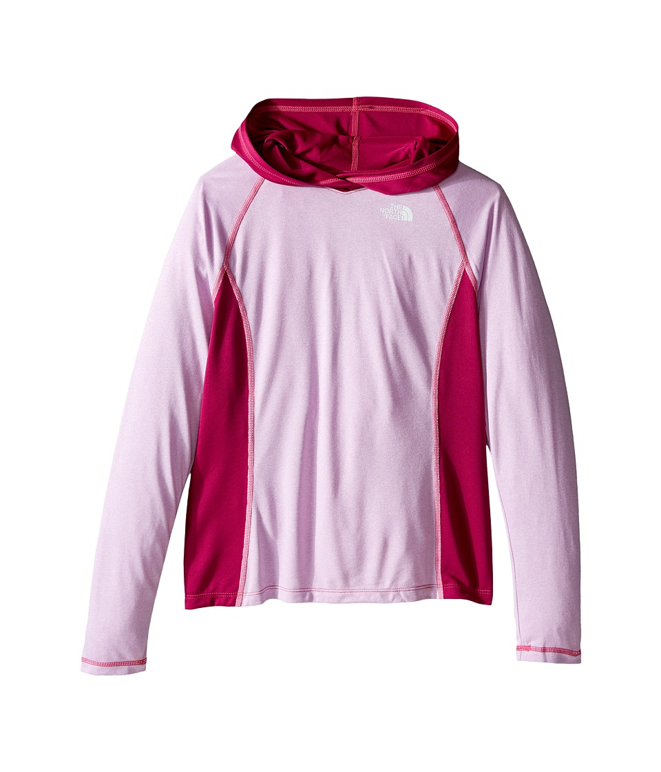 The North Face Kids - Long Sleeve Reactor Hoodie (Little Kids/Big Kids) (Lupine Heather) Girl's Sweatshirt