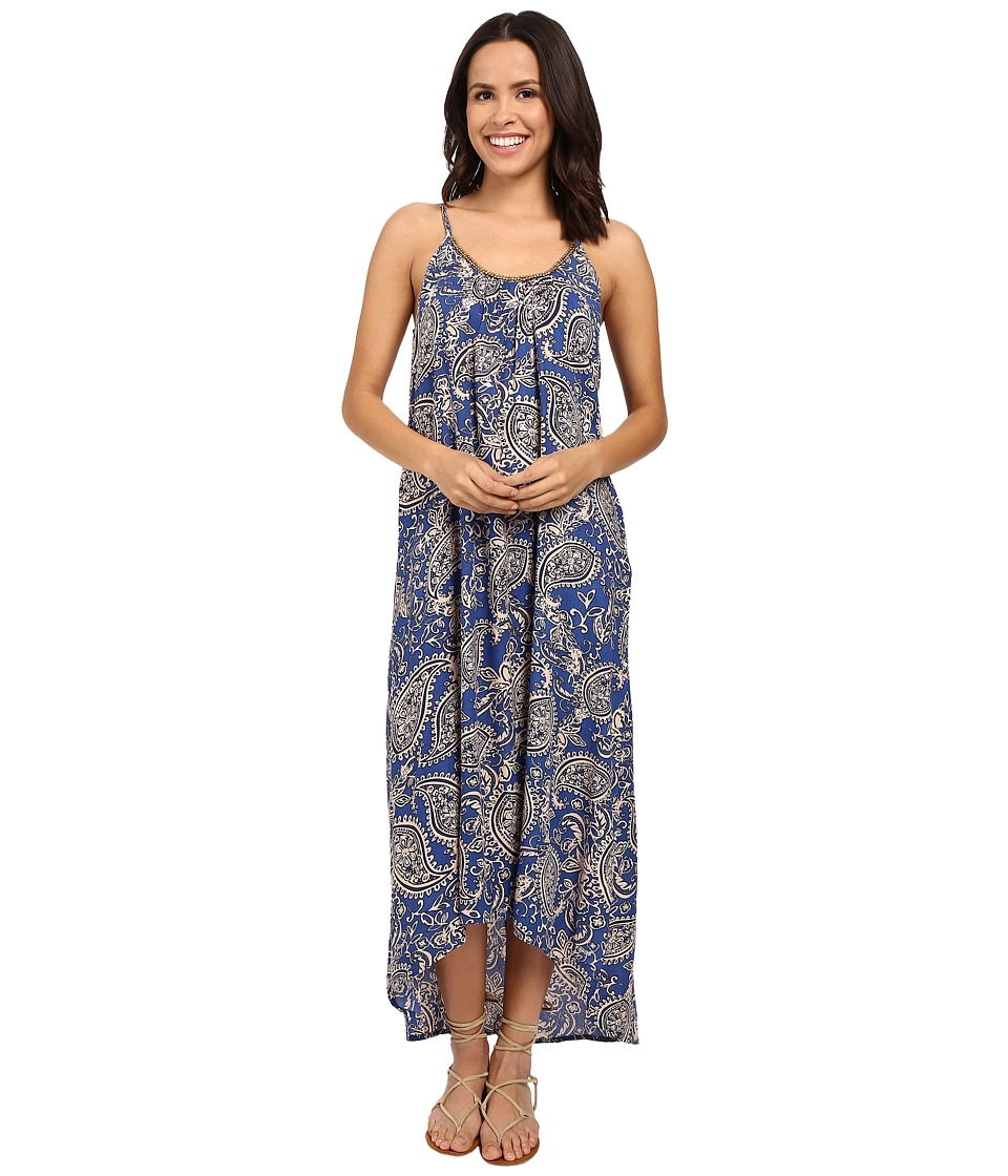 Brigitte Bailey - Heidi Printed Strappy Maxi Dress with Bead Detail (Royal) Women's Dress