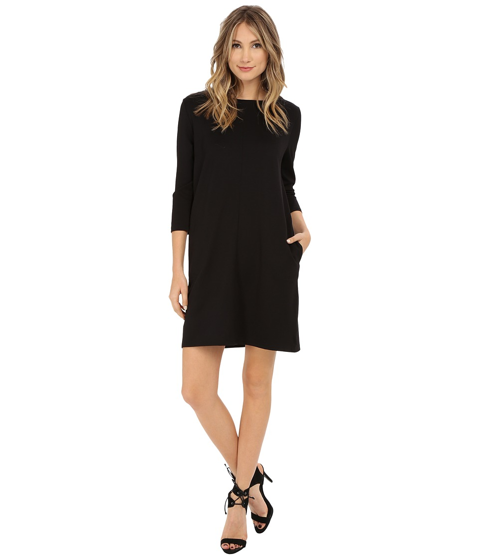 Brigitte Bailey - Calin 3/4 Sleeve Dress with Pockets (Black) Women's Dress