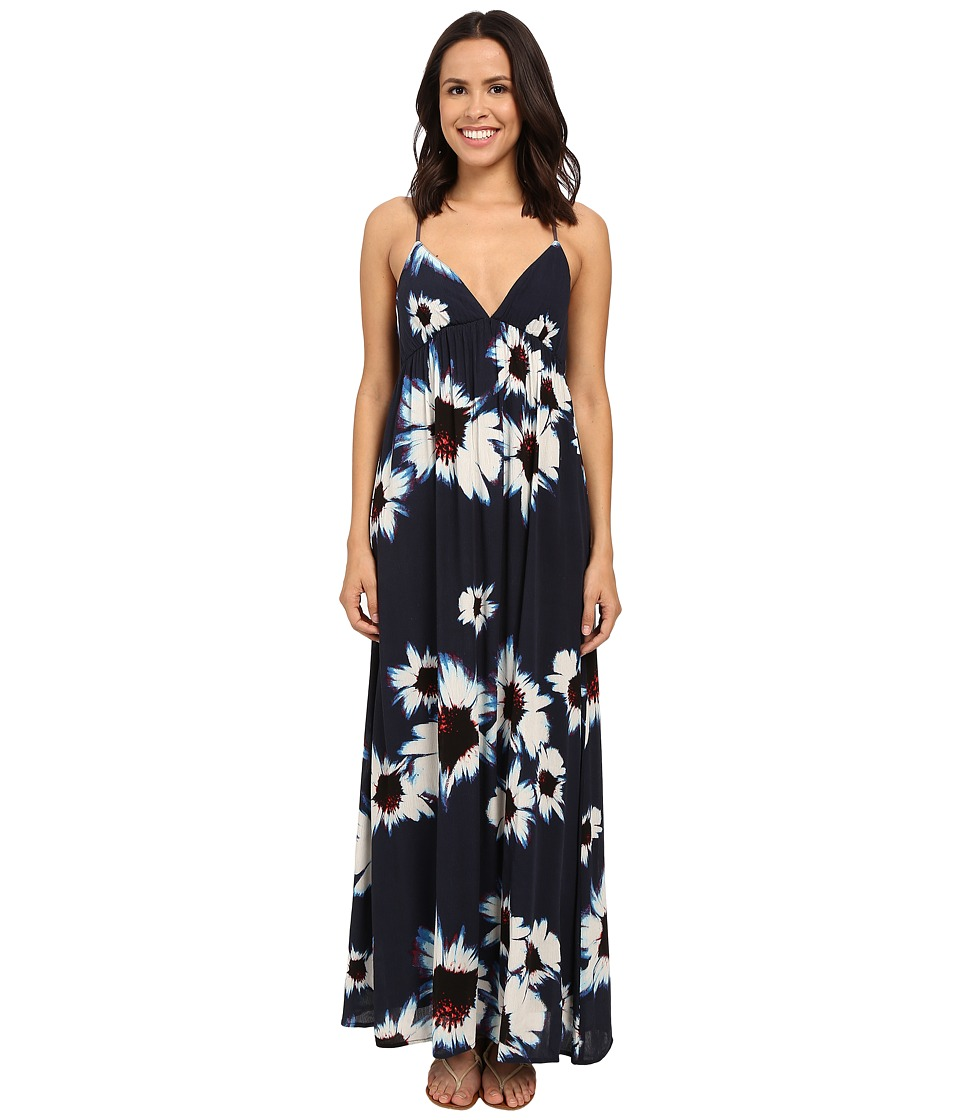 Brigitte Bailey - Daphne Floral Keyhole Back Maxi Dress (Navy/Cream) Women's Dress