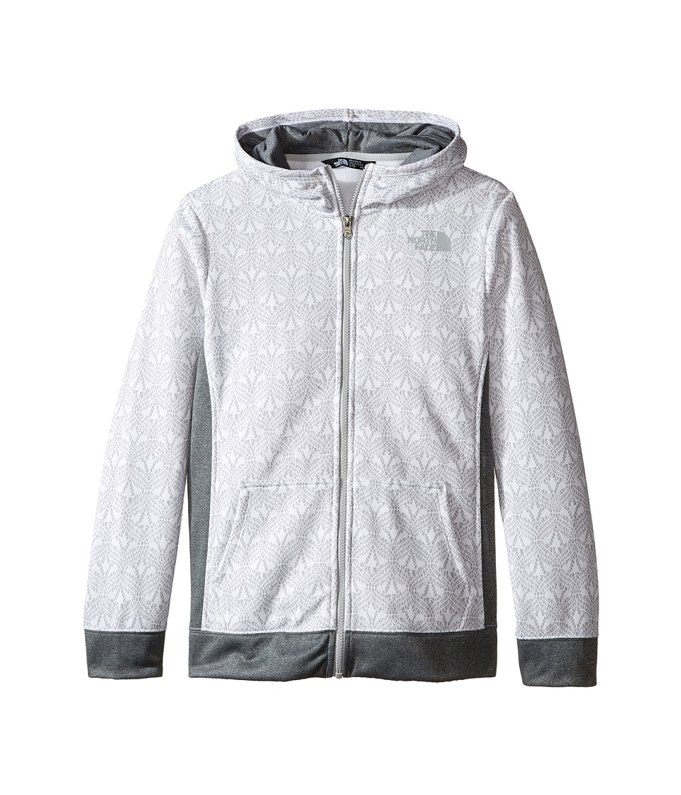 The North Face Kids - Surgent Full Zip Hoodie (Little Kids/Big Kids) (TNF White Lace Print) Girl's Sweatshirt