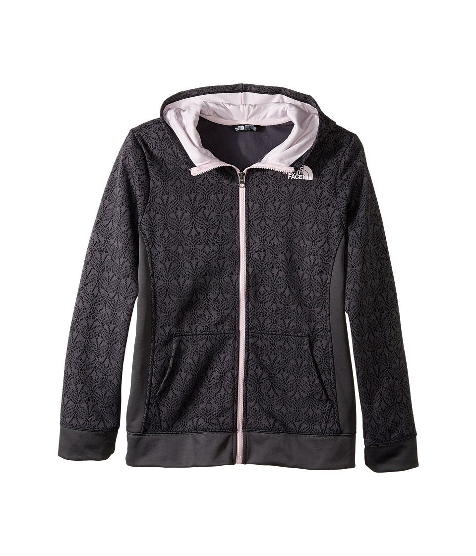 The North Face Kids - Surgent Full Zip Hoodie (Little Kids/Big Kids) (TNF Black Lace Print) Girl's Sweatshirt