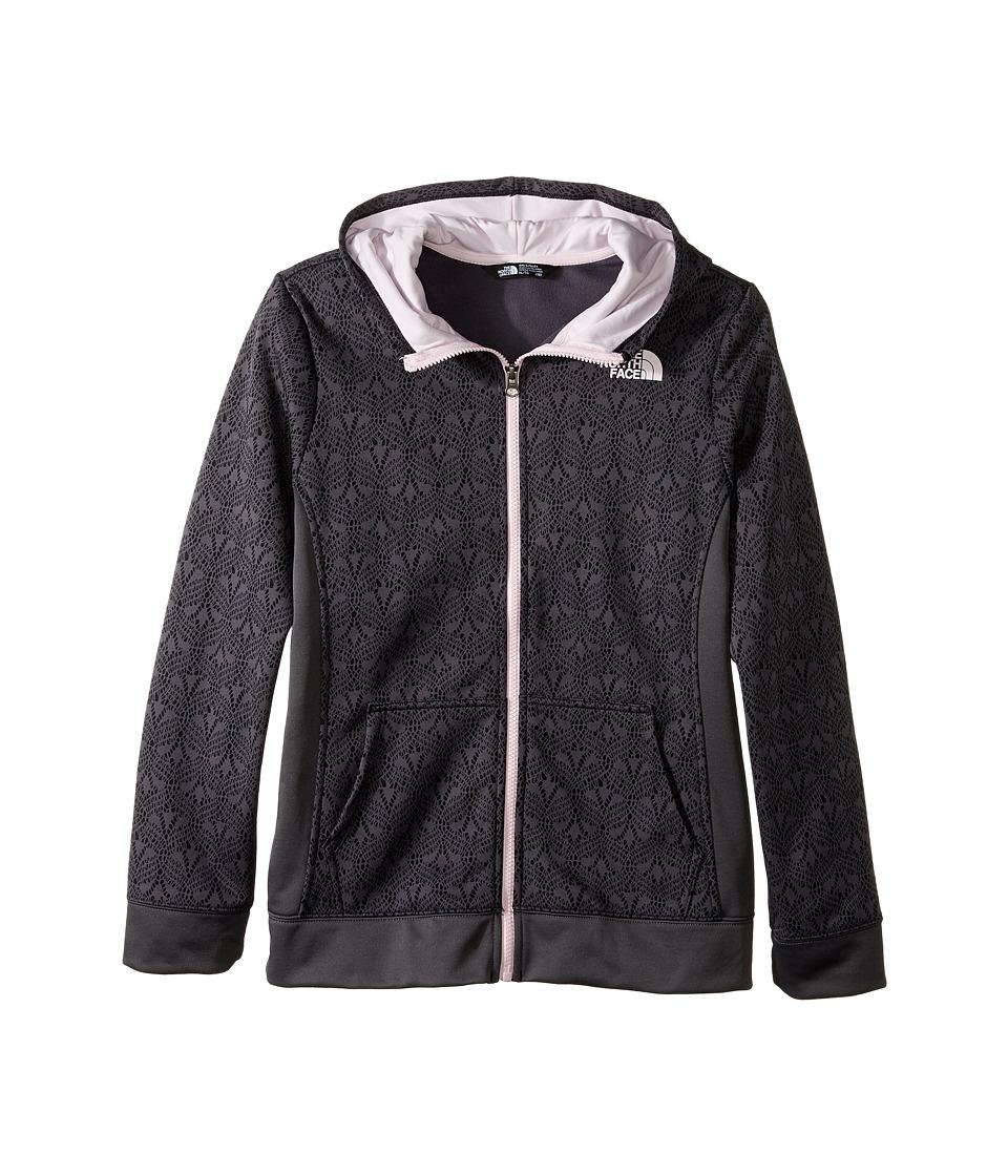 The North Face Kids - Surgent Full Zip Hoodie (Little Kids/Big Kids) (TNF Black Lace Print) Girl's Sweatshirt