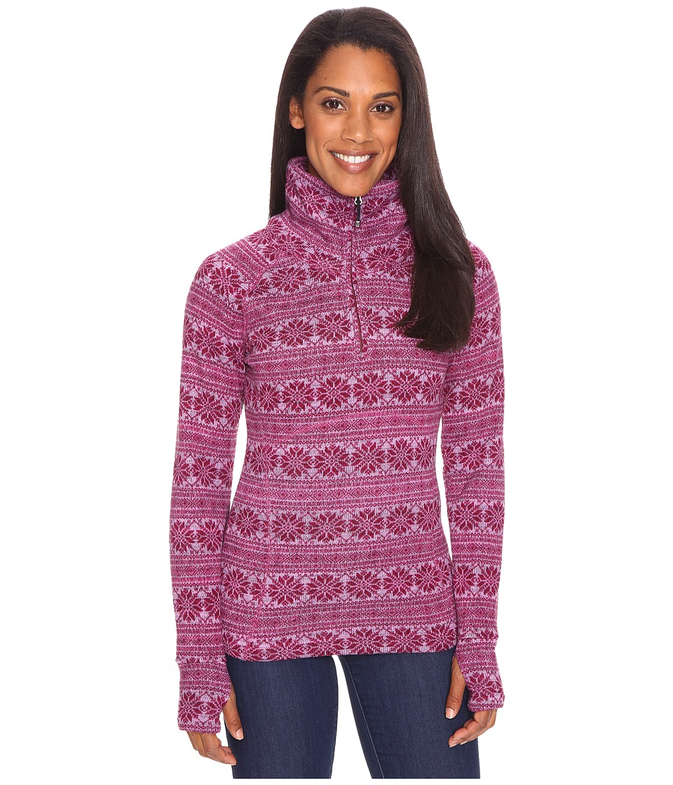 Obermeyer - Brandi Fleece Top (Pinot Snowflake Print) Women's Fleece