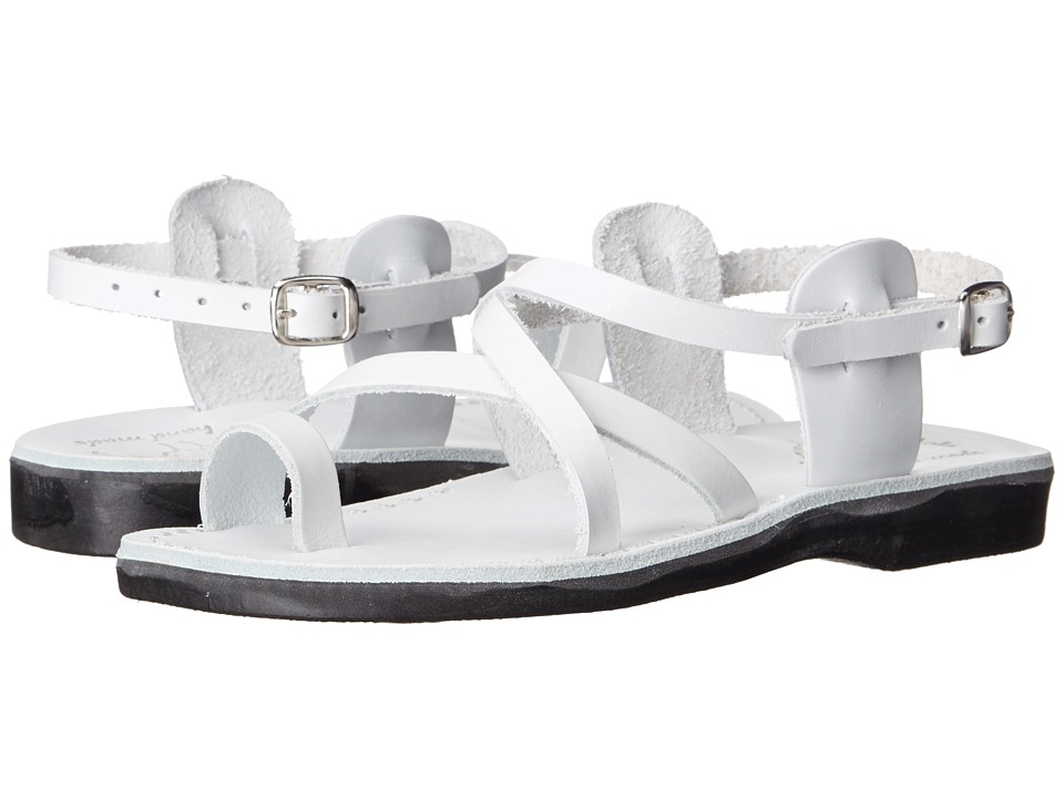 Jerusalem Sandals - The Good Shepherd Buckle - Womens (White) Women's Shoes