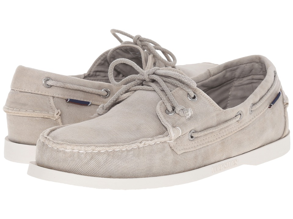 Sebago - Canvas Dockside (Beige Canvas) Men's Shoes