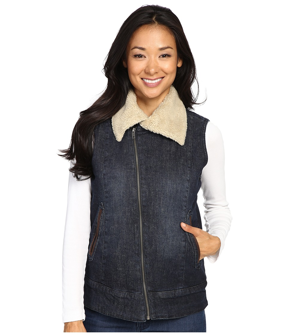 Mountain Khakis - Ranch Shearling Vest (Dark Denim) Women's Vest