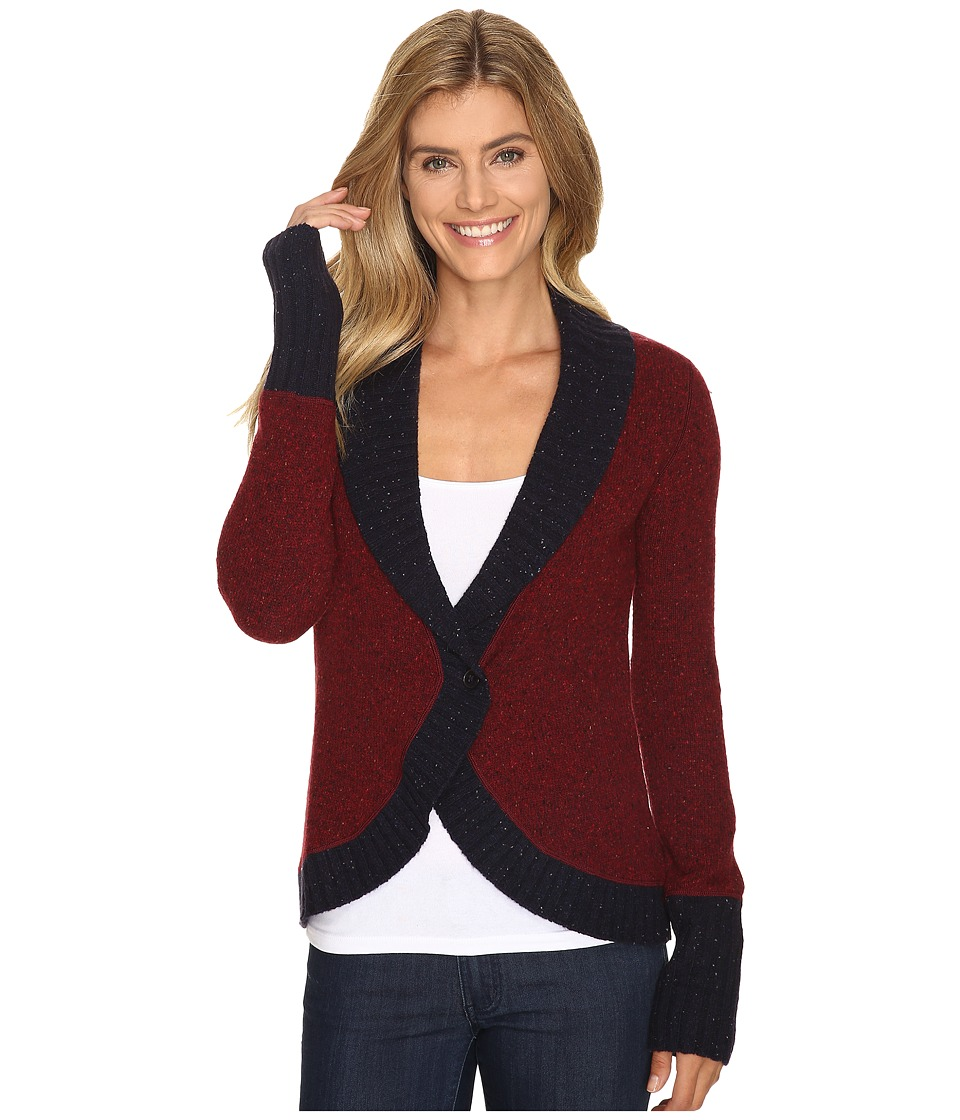 Mountain Khakis - Fleck Shawl Cardigan Sweater (Malbec) Women's Sweater