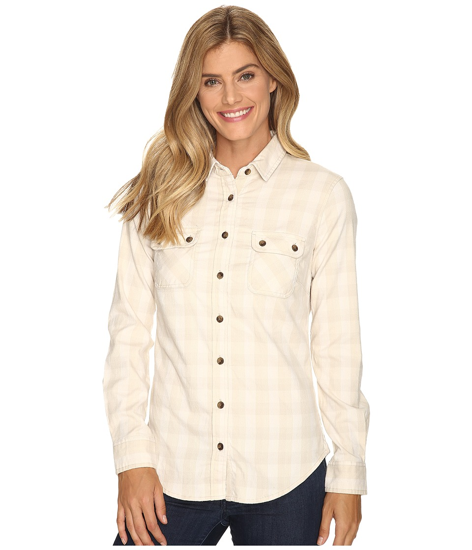 Mountain Khakis - Peaks Flannel Shirt (Cream) Women's Clothing