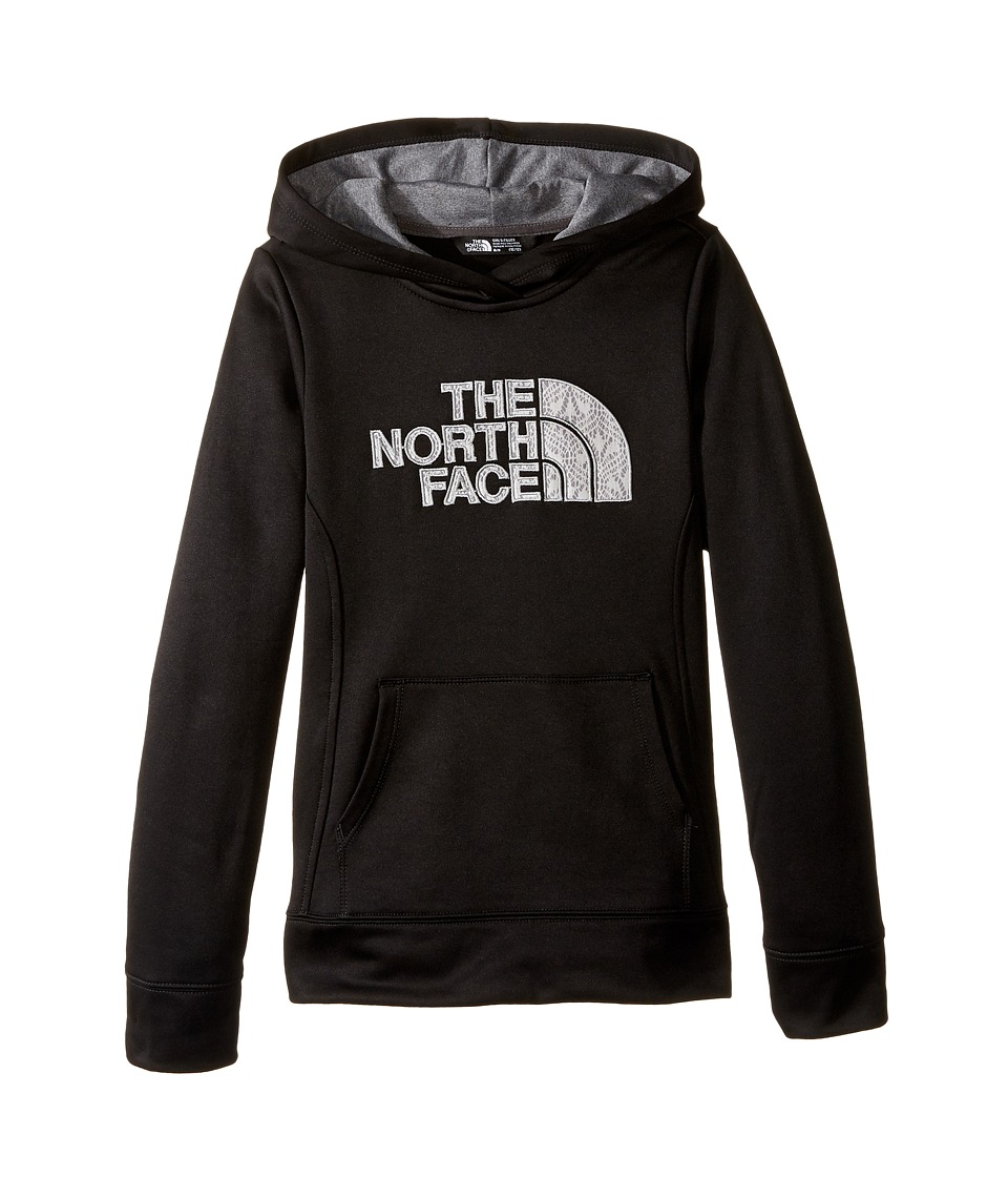 The North Face Kids - Surgent Pullover Hoodie (Little Kids/Big Kids) (TNF Black/TNF Medium Grey Heather) Girl's Sweatshirt