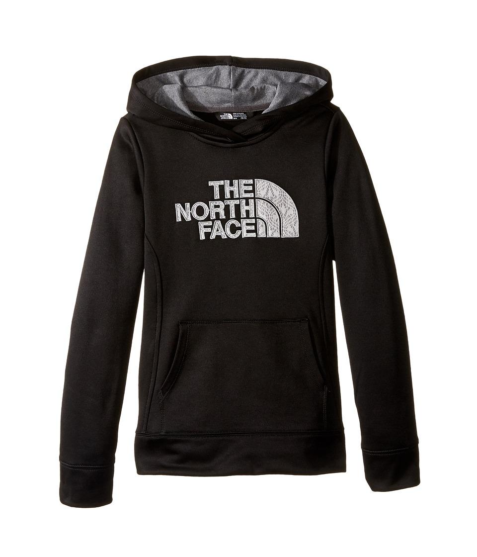 The North Face Kids - Surgent Pullover Hoodie (Little Kids/Big Kids) (TNF Black/TNF Medium Grey Heather) Girl's Sweatshirt