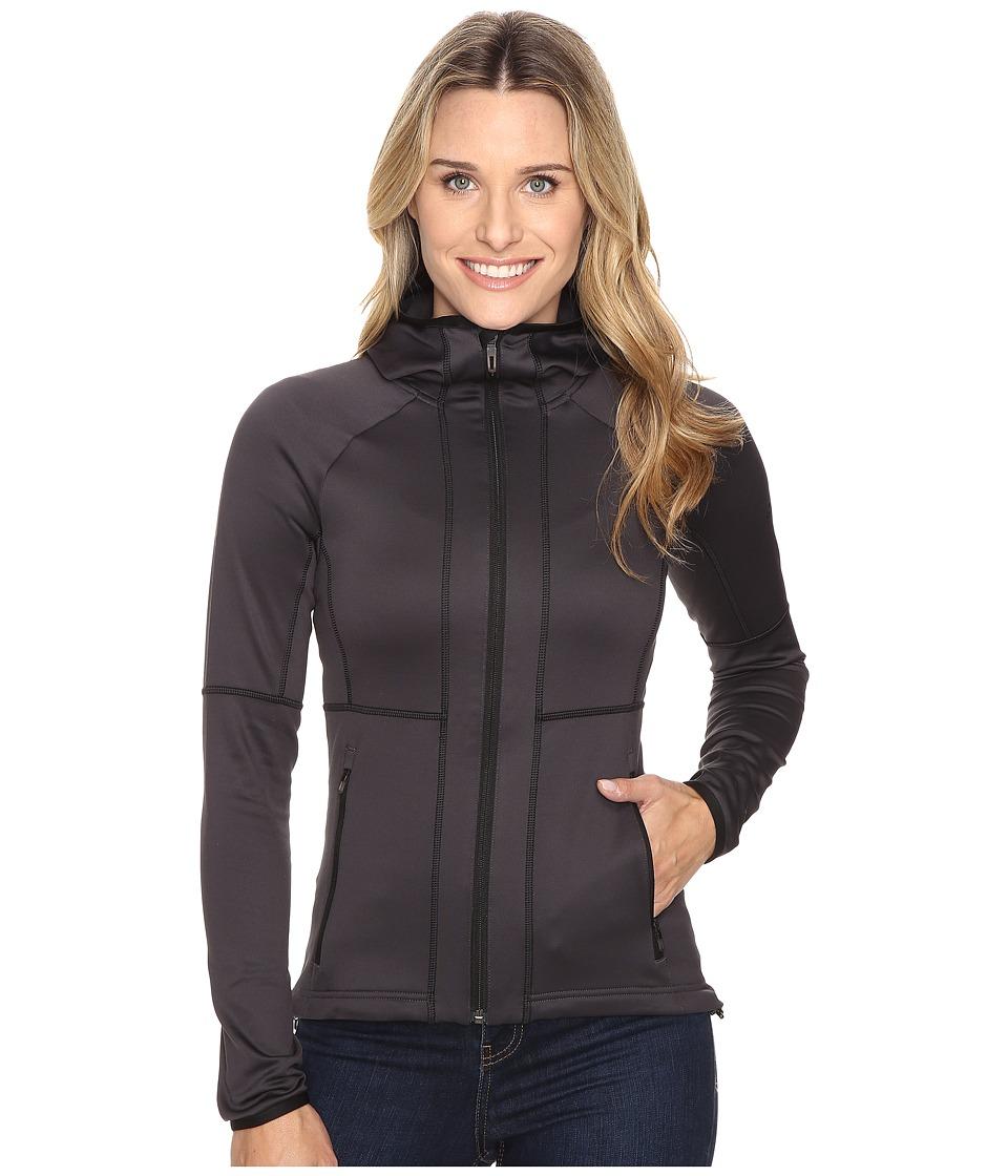adidas Outdoor - One-Sided Hooded Fleece (Utility Black) Women's Coat