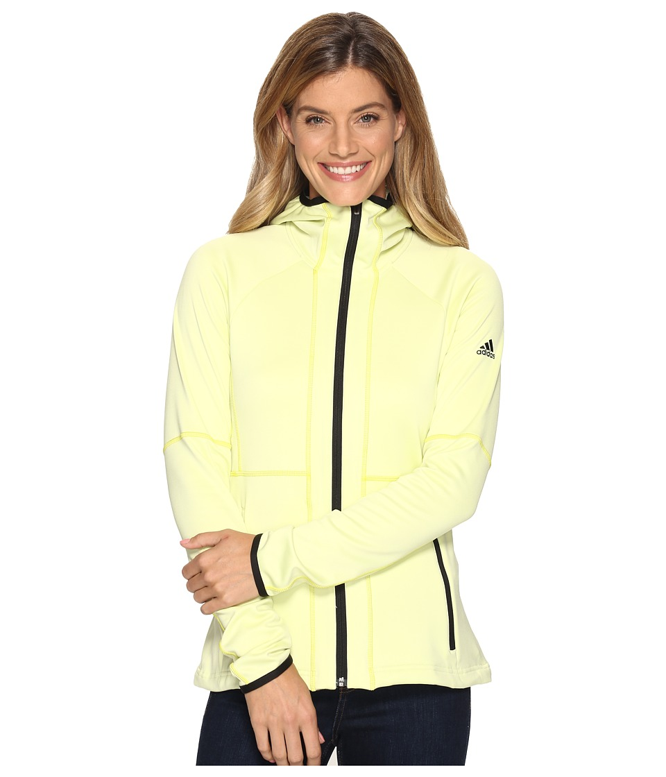 adidas Outdoor - One-Sided Hooded Fleece (Ice Yellow) Women's Coat