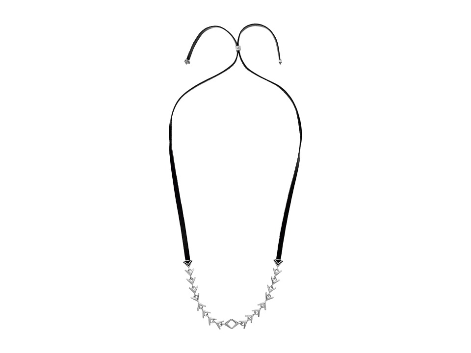 Sam Edelman - Tribal V Slider Necklace 32 (Rhodium) Necklace